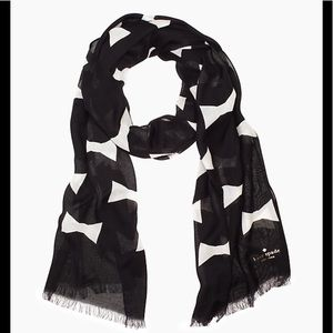 NWOT Kate Spade ♠️ Oversized bow tie scarf